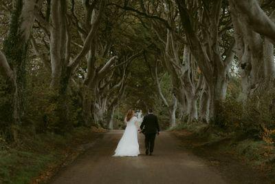 Dark Hedges Game of Thrones elopement location in Northern Ireland