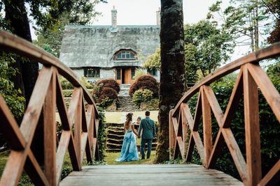 Elopement in a rustic cottage wedding venue in Ireland