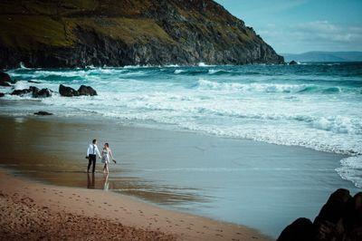 Elopement location on an Irish beach