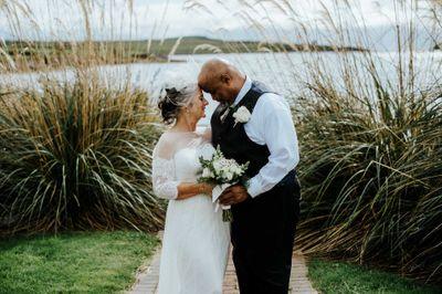 Older couple destination wedding in Ireland