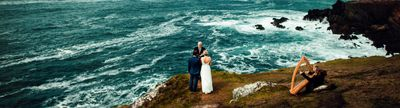 A vow renewal by the ocean at Slea Head in Dingle
