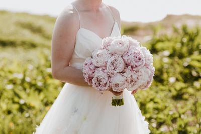 Large ink peony bridal bouquet