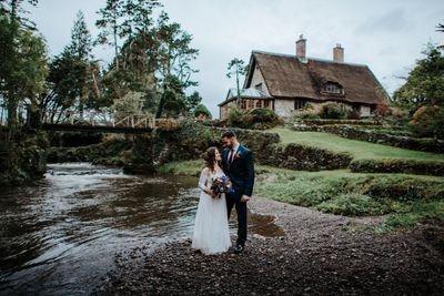 Destination wedding in a rustic Irish cottage venue
