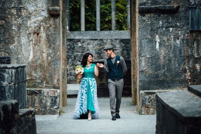 Vow renewal at Muckross Abbey in Ireland