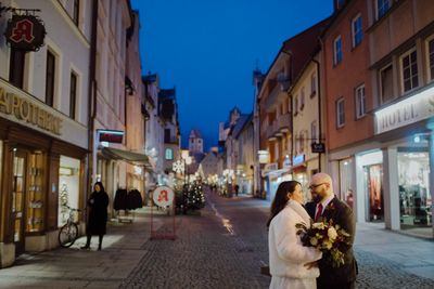 Eloping couple photoshoot in Fussen town