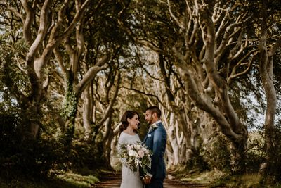 Wedding in Northern Ireland at the Dark Hedges Game of Thrones location