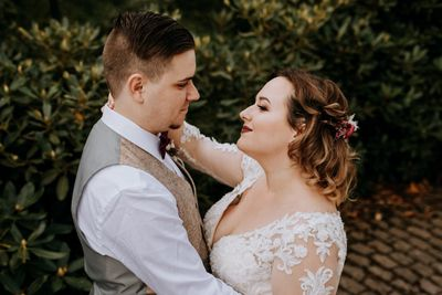 Couple who married in Germany with a wedding package