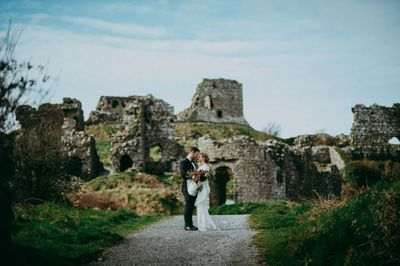 Couple who got married in dramatic castle ruins in Ireland