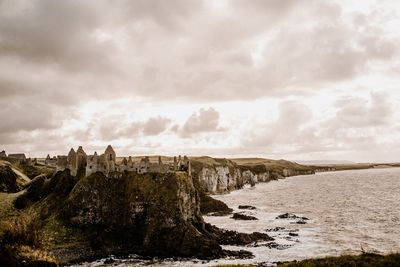 Dunluce Castle historic ruins to elope on the North Atlantic Coast