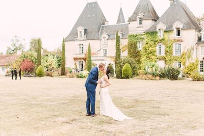 Intimate destination wedding in a French chateau planned by Peach Perfect Weddings