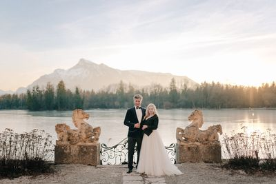 Lakeside destination wedding in Austria organised by Peach Perfect Weddings
